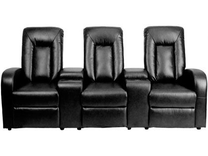 series 2 black leather recliners
