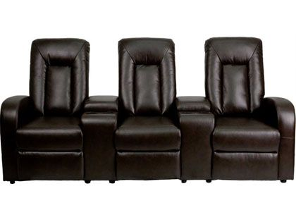 2 piece black leather recliner