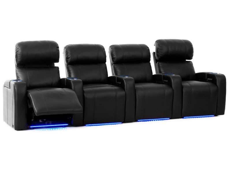 Octane Curve HR Modern Theater Seats for Home | Power Recline ...