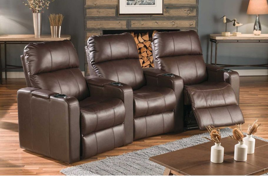 Palliser Elite Theater Seating | Model 41952 | Custom Leather ...