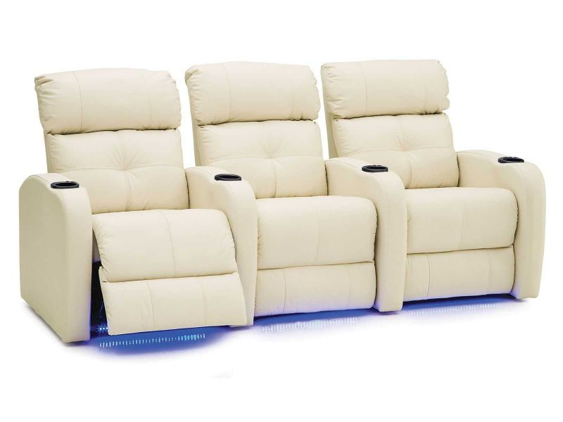 Stereo 41454 | Palliser Home Theater Chairs | Space Saver | Lit Cup ...