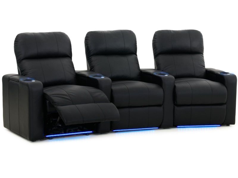 Octane Seating Turbo XL700 Theater Seating | Power Recline | Black ...